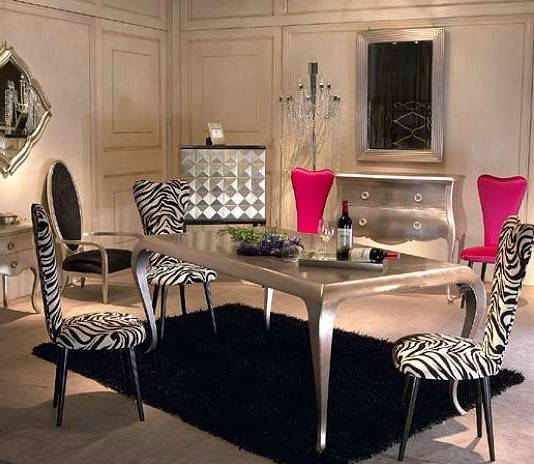 Glamorous Dining Room Decorating Ideas Velvet Silver And