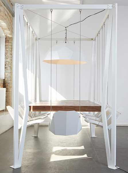 Playful Swing Table Design Adding Fun To Dining Room Decorating