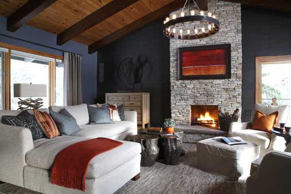 brown paint living room pictures cheap wall decorations for gorgeous homes in alpine chalet style, country home ...