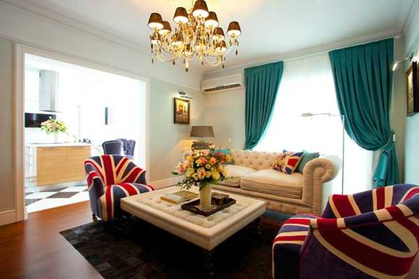 unique designs for living rooms with brown sofas 30 patriotic decoration ideas, union jack themed decor in ...