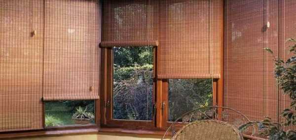 red and brown living room curtains small lounge chair beautiful bamboo blinds for interior decorating ...