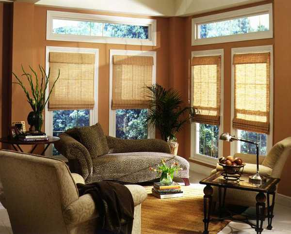 red curtains for living room wood cupboard designs beautiful bamboo blinds interior decorating and ...