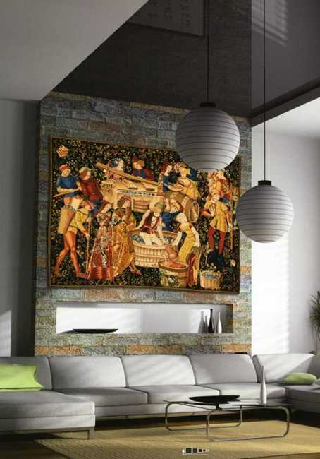 Modern Interior Decorating with Tapestry Wall Hangings