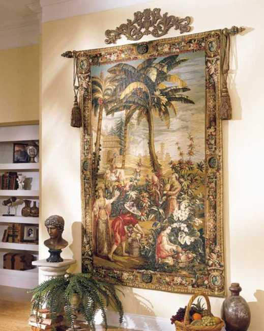 Modern Interior Decorating with Tapestry Wall Hangings Bringing Texture into Room Decor