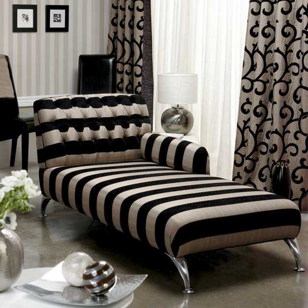 Modern Chaise Lounge Chairs Recamier for Chic Room Decor in Classic French Style