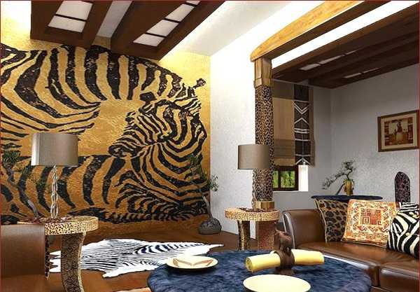 Exotic Trends In Home Decorating Bring Animal Prints Into