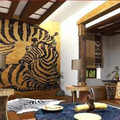 Green And Red Living Room Best Wall Color 2016 Exotic Trends In Home Decorating Bring Animal Prints Into ...