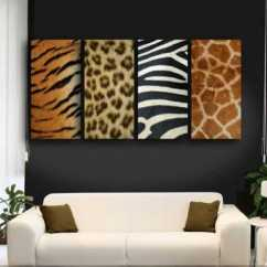Orange Yellow And Brown Living Room Ideas Blue Sofa In Exotic Trends Home Decorating Bring Animal Prints Into ...