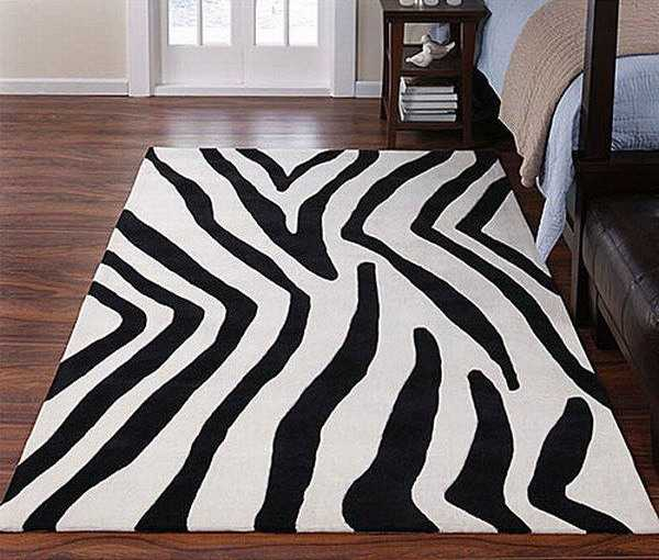 Zebra Prints and Decoration Patterns Personalizing Modern Bedroom Decor