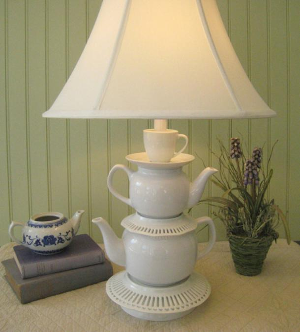 Recycling Tea Cups and Tea Pots for Creative Home Decorating Ideas