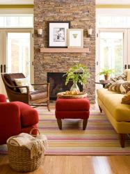 warm living room colors schemes interior fall cozy decorating decor autumn fireplace combinations friendly kid harmonious brown inspired designs rug