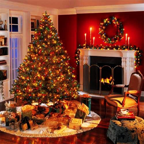 pictures of living rooms with brown furniture room merry christmas decorating ideas for and ...