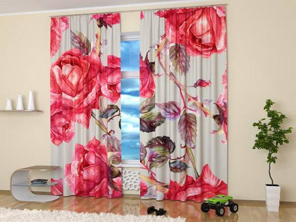15 Window Curtains With Colorful Art Prints Of Beautiful Flowers For Nature Themed Decor