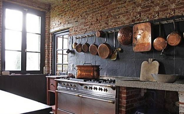 country home decorating ideas living room brown leather sofa design modern kitchen decor with brick walls, 25 interior ...