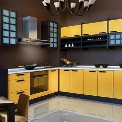 Decorating Kitchen Walls Counter Height Table Set Black And Yellow Color Schemes For Modern Decor