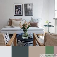 Brown And Green Color Scheme For Living Room Layout Ideas With Fireplace Tv Modern Beige, Green, Pink Pastels Soften Black White ...