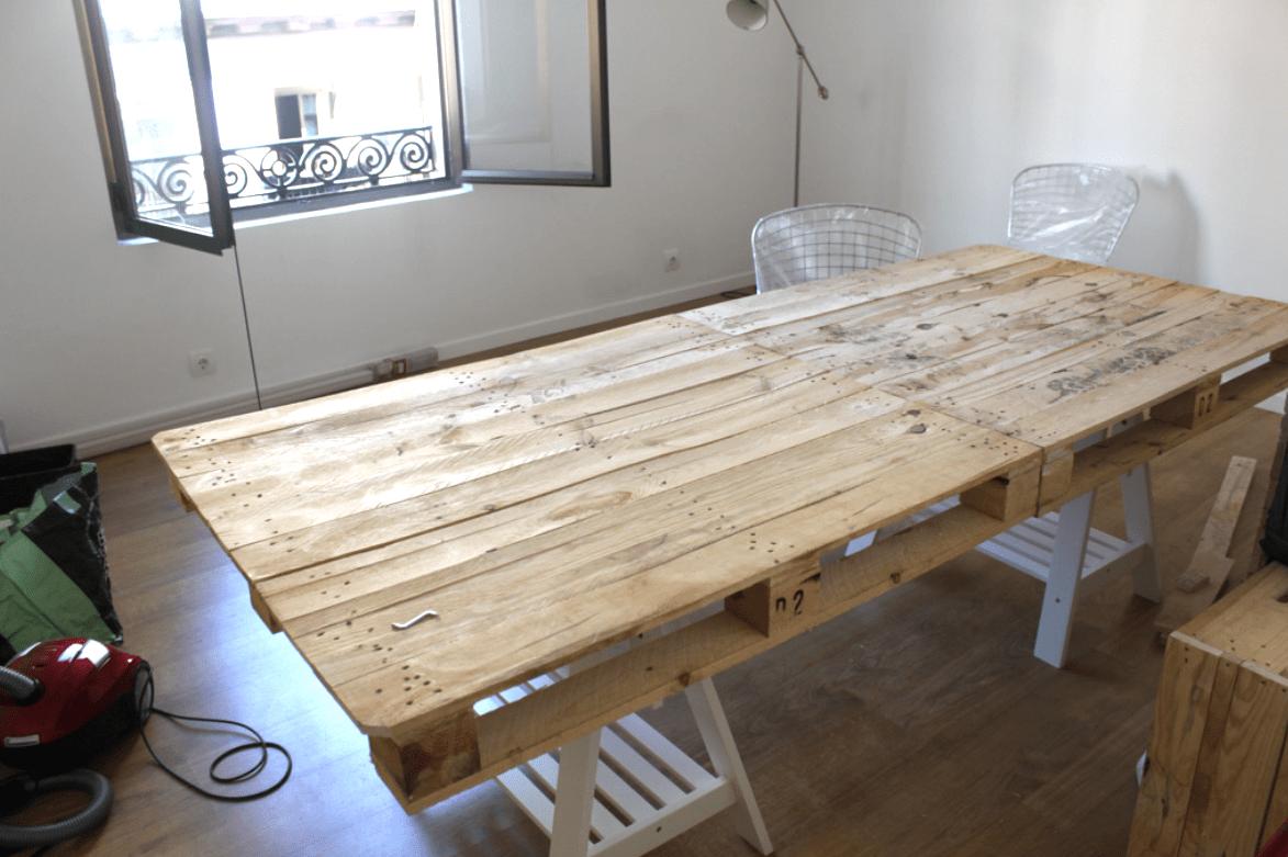 como hacer una mesa con palets  decoraCCion