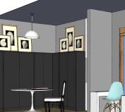 El recibidor puede ser perfectamente una zona de trabajo o un lugar para reunirse si viene gente a cenar
