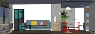 interiorismo las rozas, salón, diseño de muebles, diseño de mesa, decoración lowcost (12)