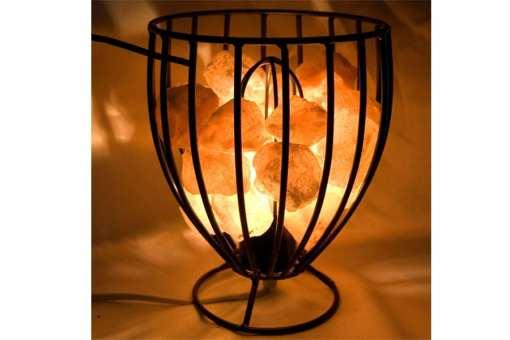 Lámpara de sal cesta