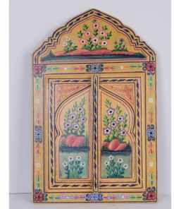 Espejo marroqui madera pintada, amarillo
