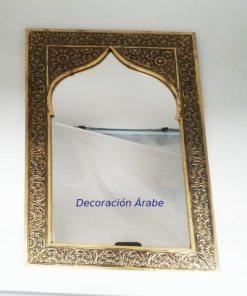 espejo marroquí labrado dorado