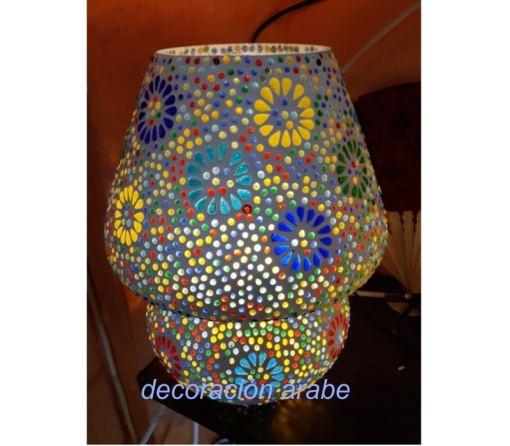 lámpara de mesa mosaico oriental