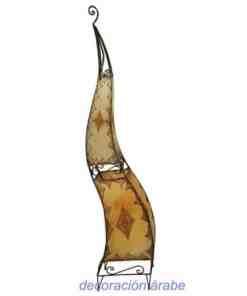 lámpara marroquí forja piel