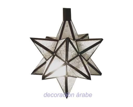 lámpara arabe puntas mostaza