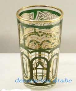Vasos de te marroquíes color verde