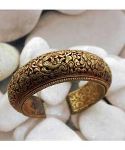 Pulsera antigua tibetana bañada en Oro
