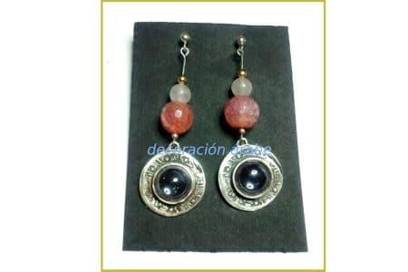 pendientes arabes plata y gemas