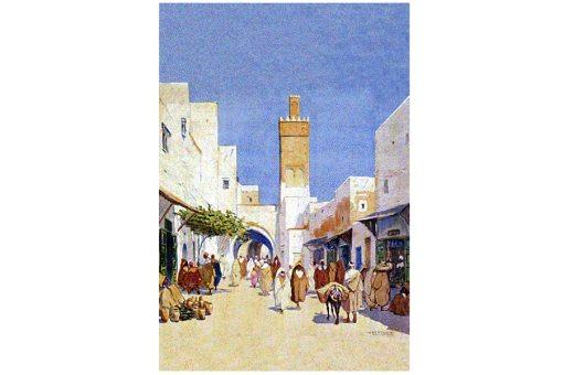 Mariano Bertuchi: Medina de Marruecos al mediodía