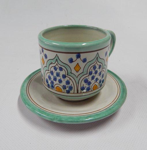 taza cerḿica verde