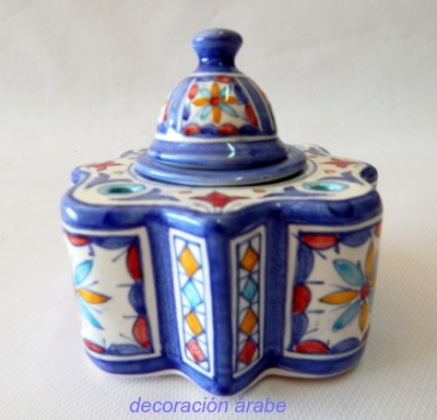 tintero cerámica árabe andaluza