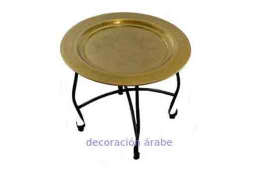 mesa árabe latón