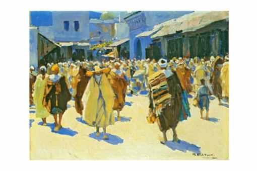 pintura marruecos, Mariano bertuchi
