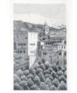 Alhambra, grabado artístico