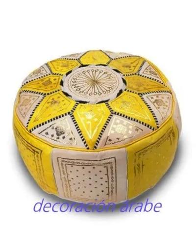 puff árabe amarillo