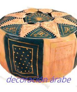 puff árabe piel azul