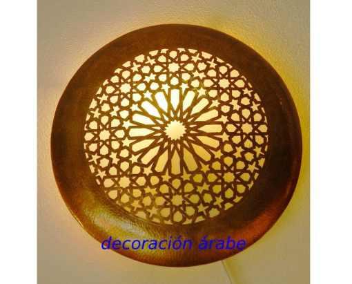 Aplique árabe redondo dorado
