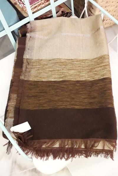 manta marroquí marrón
