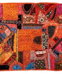 tapiz india naranja patchwork