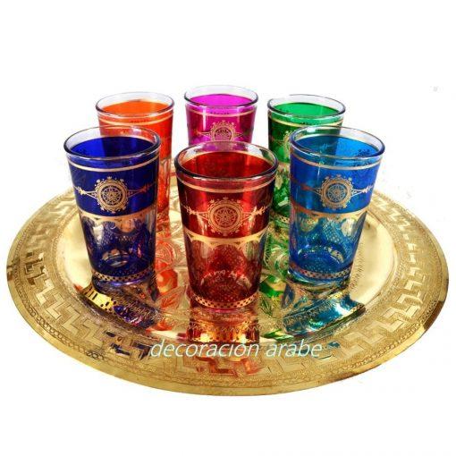 jueg de vasos árabes marroquíes