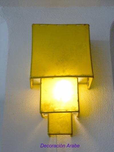 aplique marroquí piel amarillo