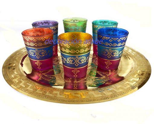 vasos marroquíes para el té
