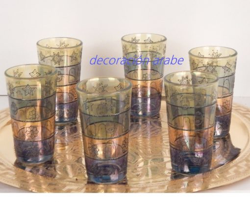 juego vasos marroquíes para el té