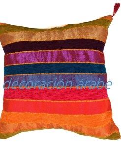 cojin india algodón multicolor
