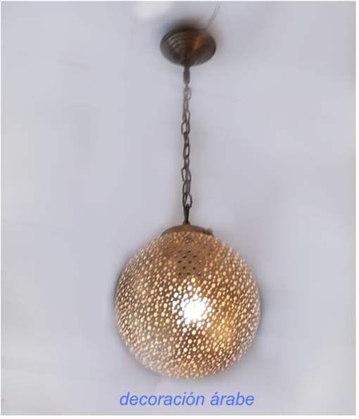 lampara techo cobre árabe