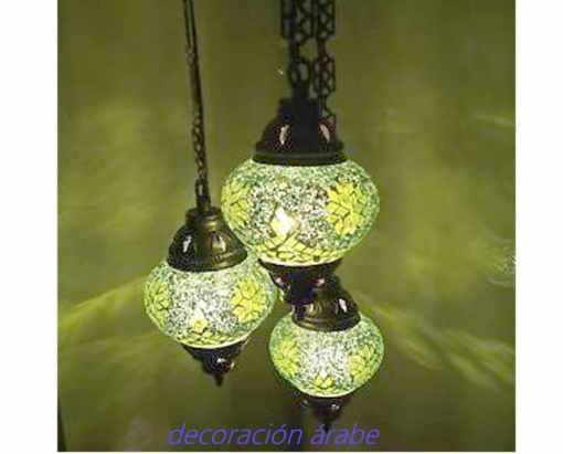 lamaparas turcas de color verde